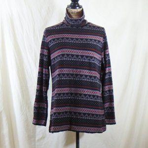fleece turtleneck sweater